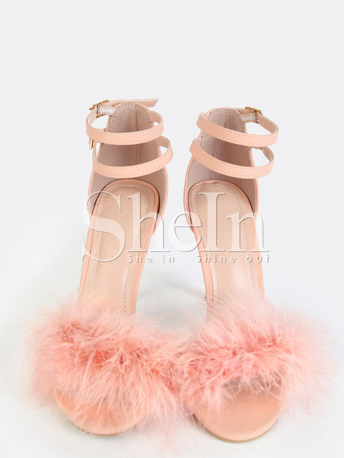369a53fe091d Shop Single Sole Feather High Heels Pink online. SheIn offers Single Sole  Feather High Heels Pink   more to fit your fashionable needs.