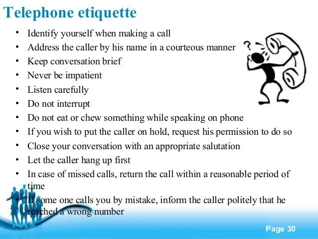 phone etiquette guidelines - Google Search | Phone