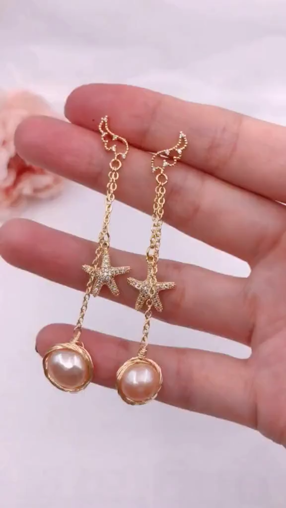 Photo of Teach you DIY pearl earrings, very simple!