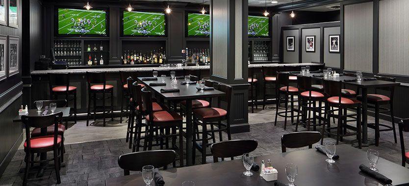 Draft bar at Holiday Inn Boston Somerville Big screen TV