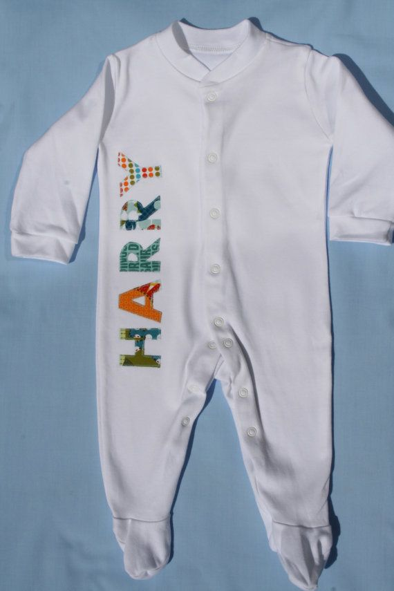 fbfe504b8 Baby boy clothes personailised baby grow sleep-suit onesie with ...