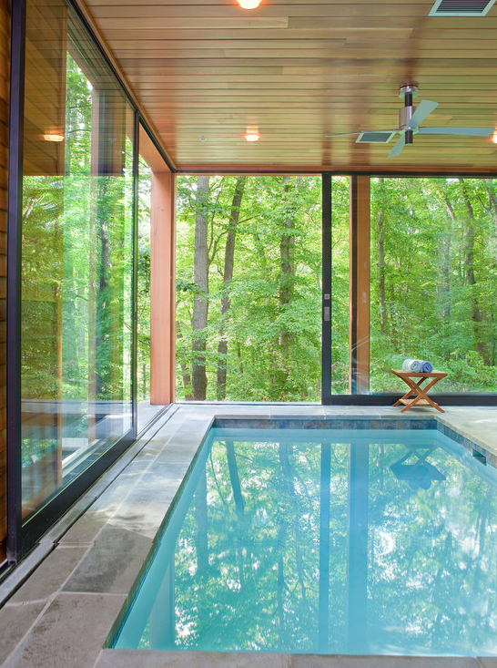 sweet indoor pools. House in the trees  eclectic pool dc metro Rill Architects Pin by Lynda Poole on Home Sweet Pinterest Indoor