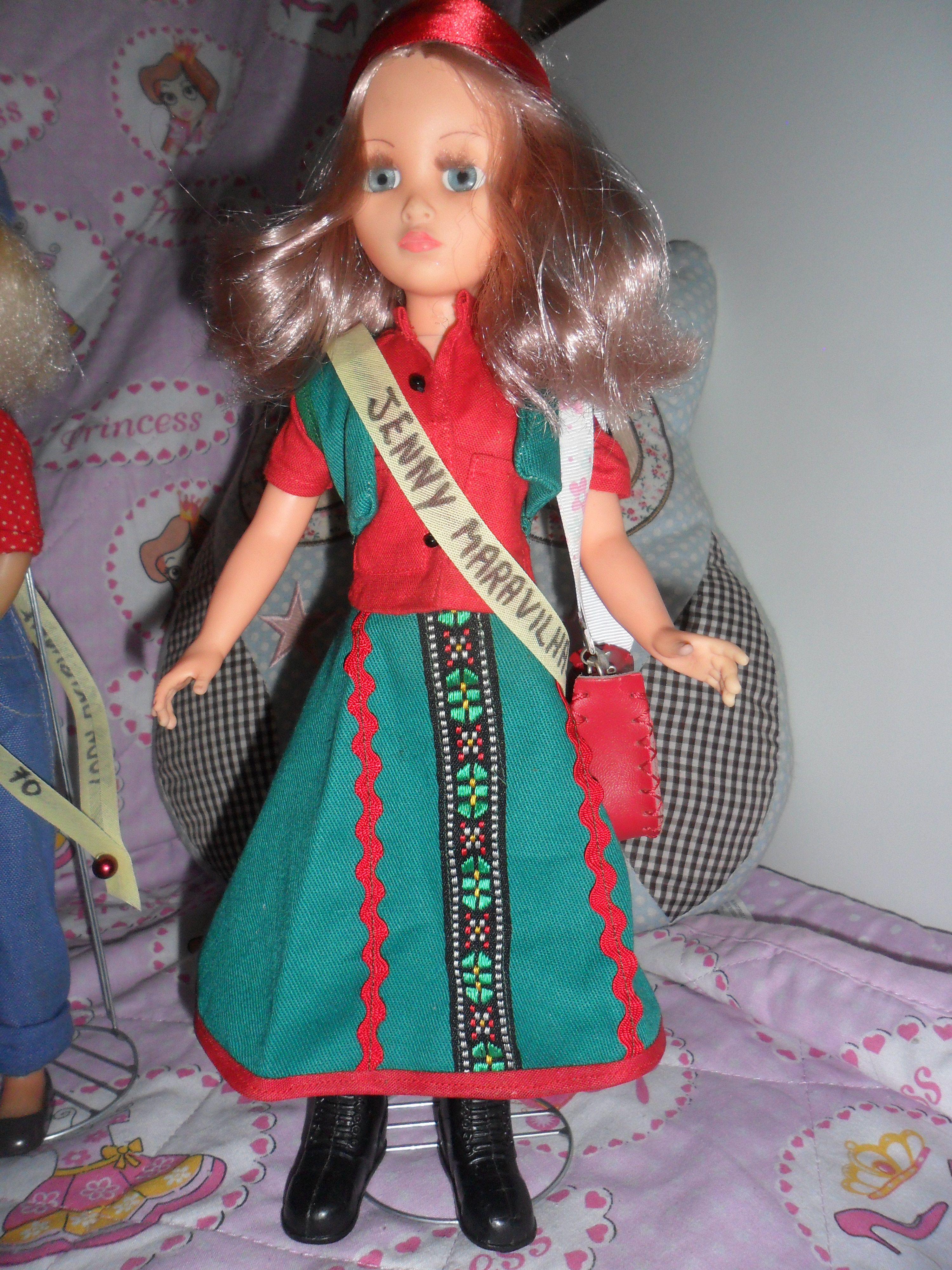BONECA JENNY MARAVILHA - CUSTOMIZADA - DA ATMA. ANOS 70