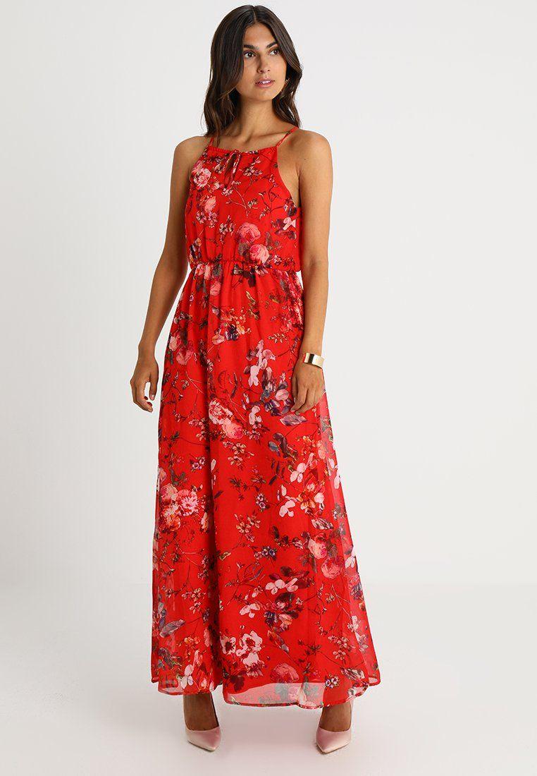 Anna Field Robe Longue Red Zalando Fr Idees Vestimentaires Robe Longue Robe Maxi