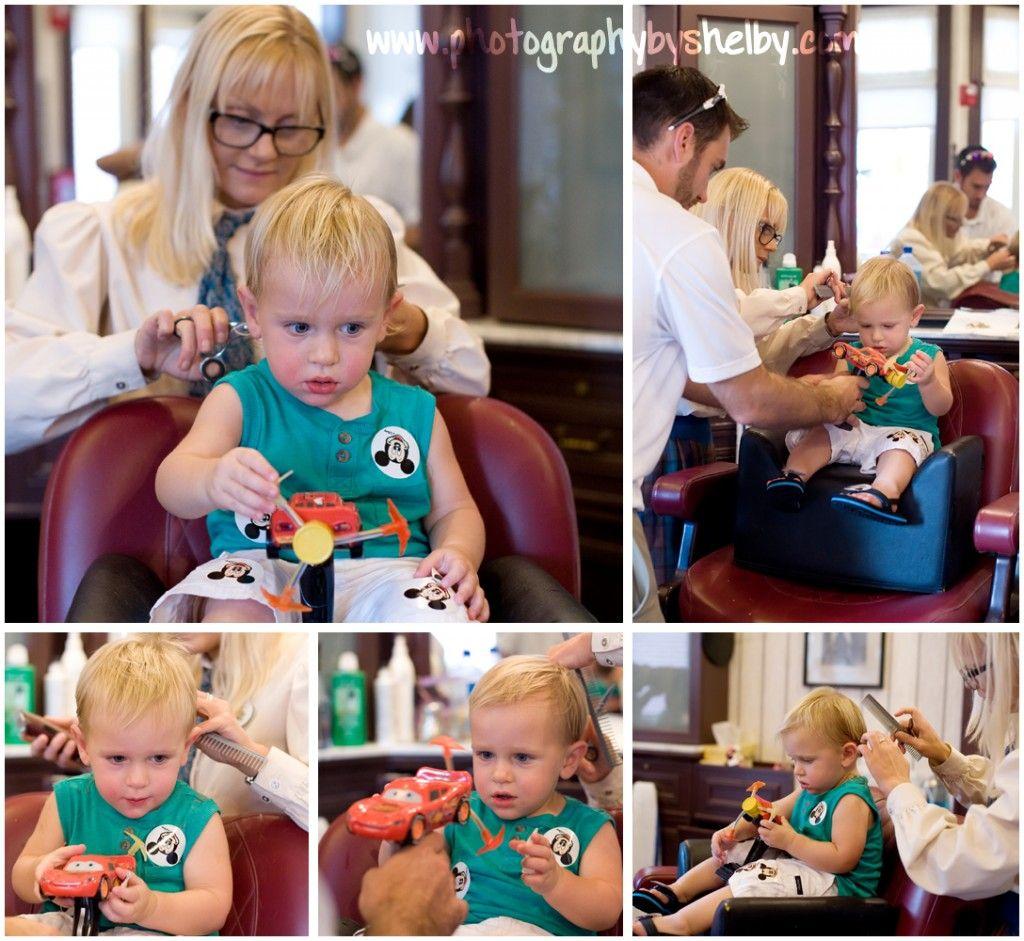 Babys First Haircut Magic Kingdom Disney World Barbershop