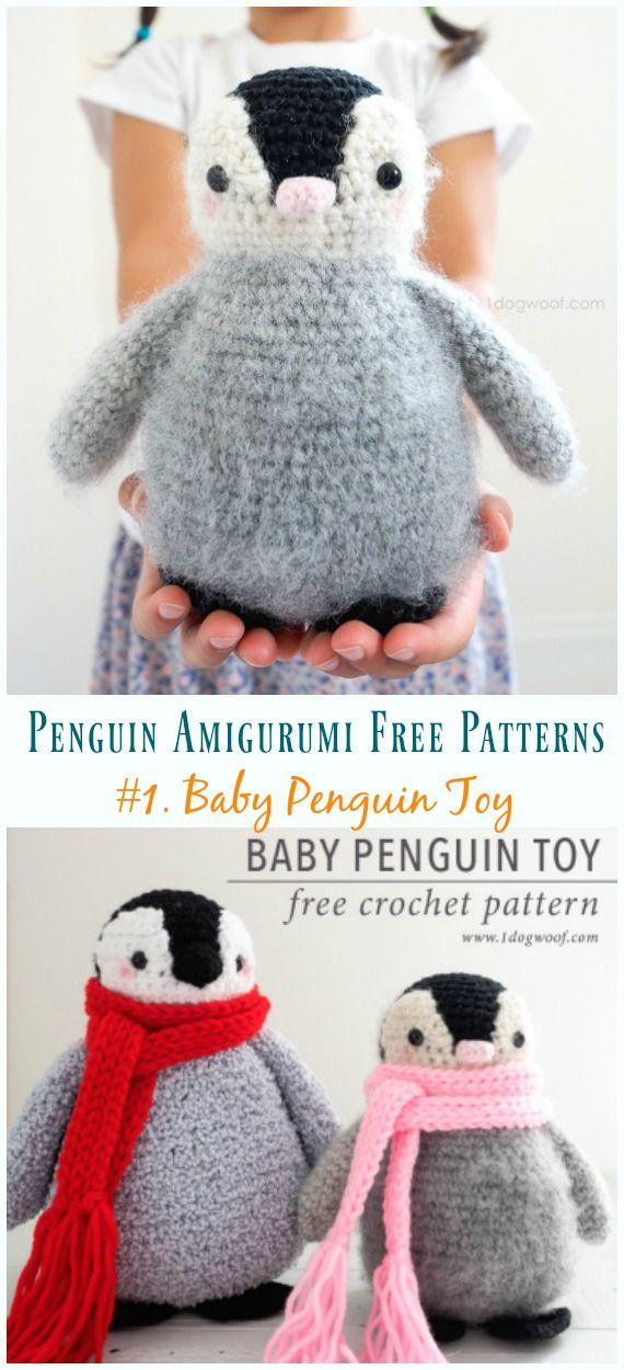 Crochet Baby Penguin Amigurumi Free Pattern #freepattern