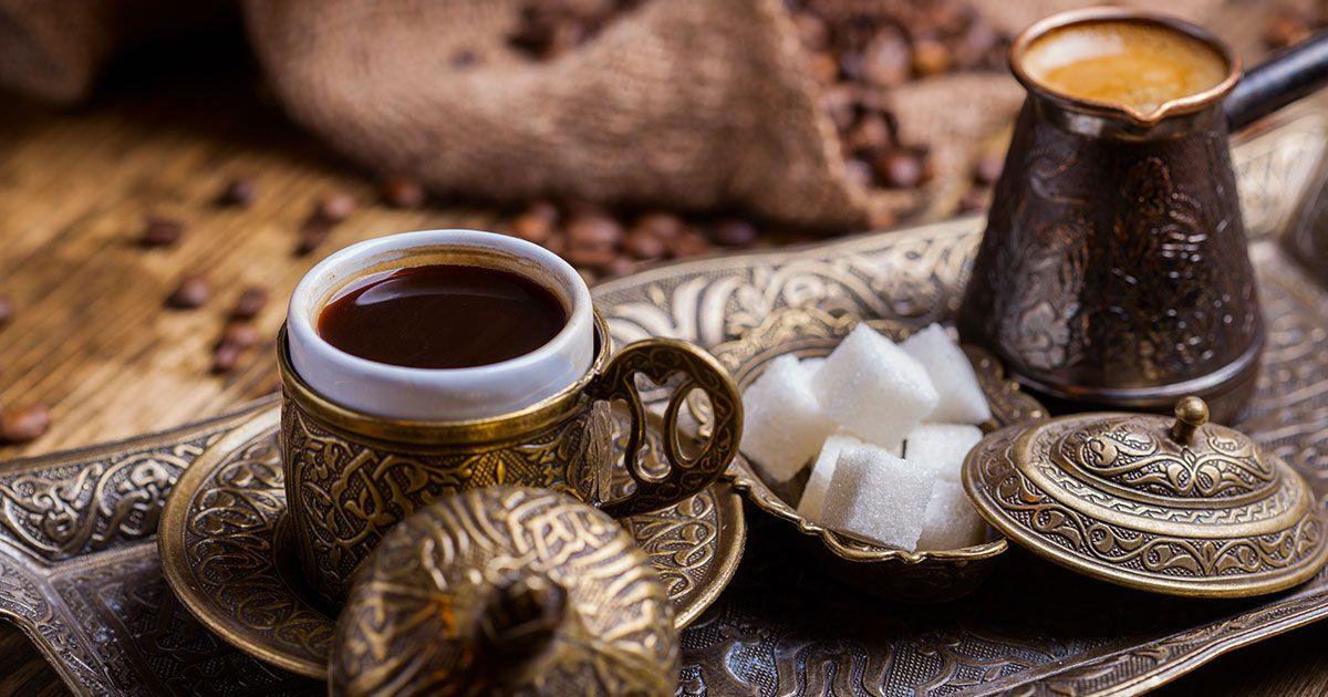 افضل قهوة تركية Turkish Coffee Recipe Turkish Coffee Set Turkish Coffee
