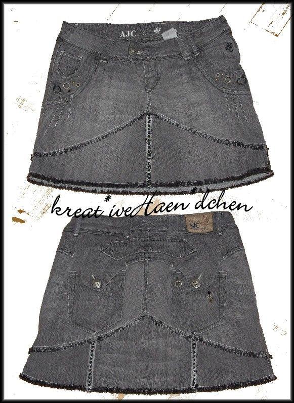 c11513f0a852 tolle Ideen   Tutorial ✄ Jeans wird ganz schnell zum Rock   Nähen ...