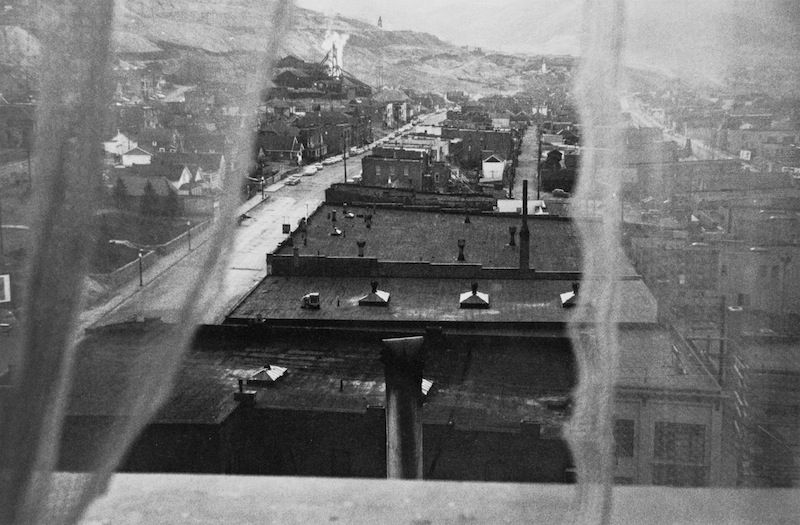 "Robert Frank. The Americans. ""View from hotel window - Butte, Montana."""