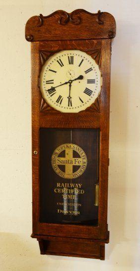 Seth Thomas Oak Railroad Station Clock