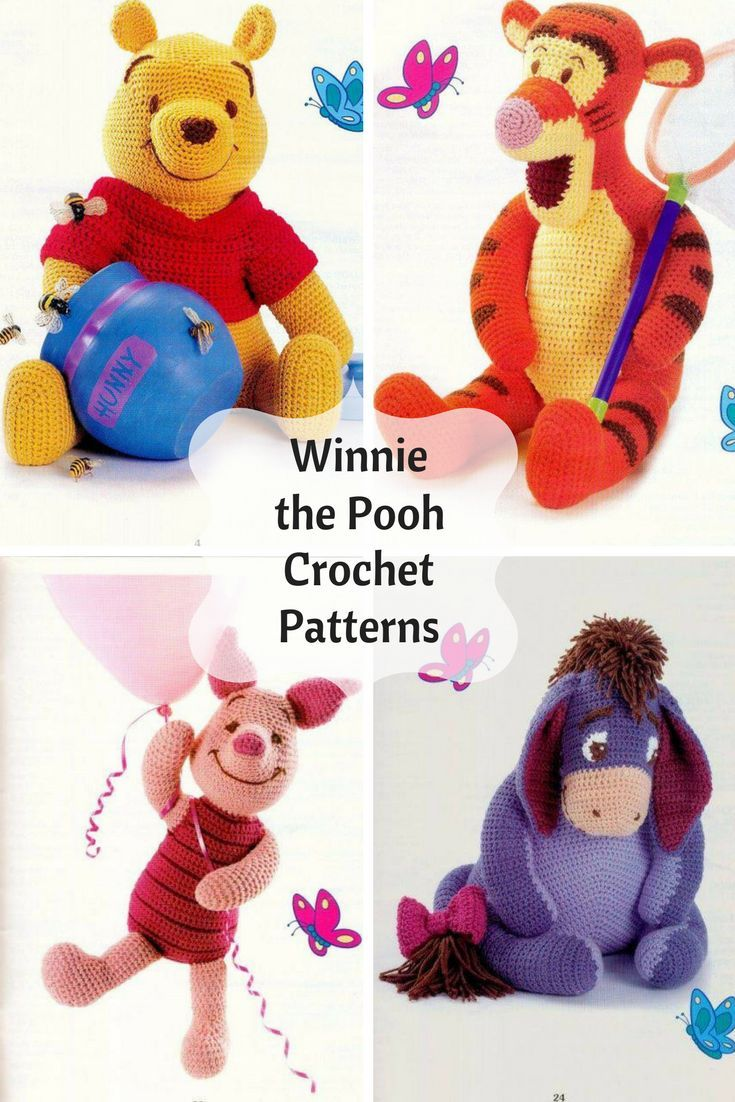 Disney\'s Winnie the Pooh Amigurumi Crochet Pattern Printable PDF #ad ...