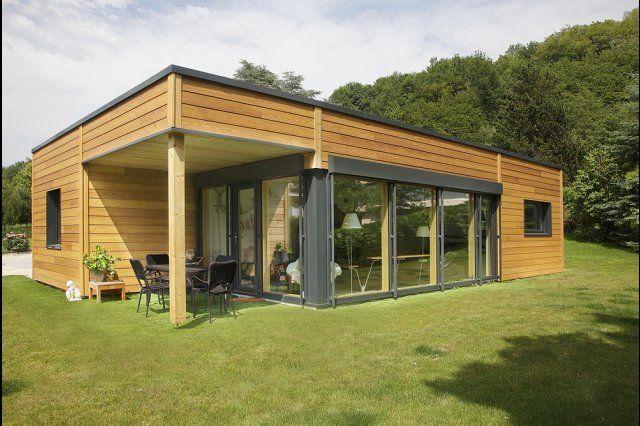 booa maison ossature bois moov4 - maison 4 pièces de plain-pied - plan de maison de 100m2 plein pied