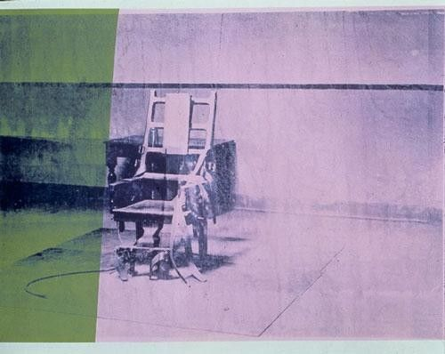 Silla elctrica Andy Warhol 1964  Things for My Wall