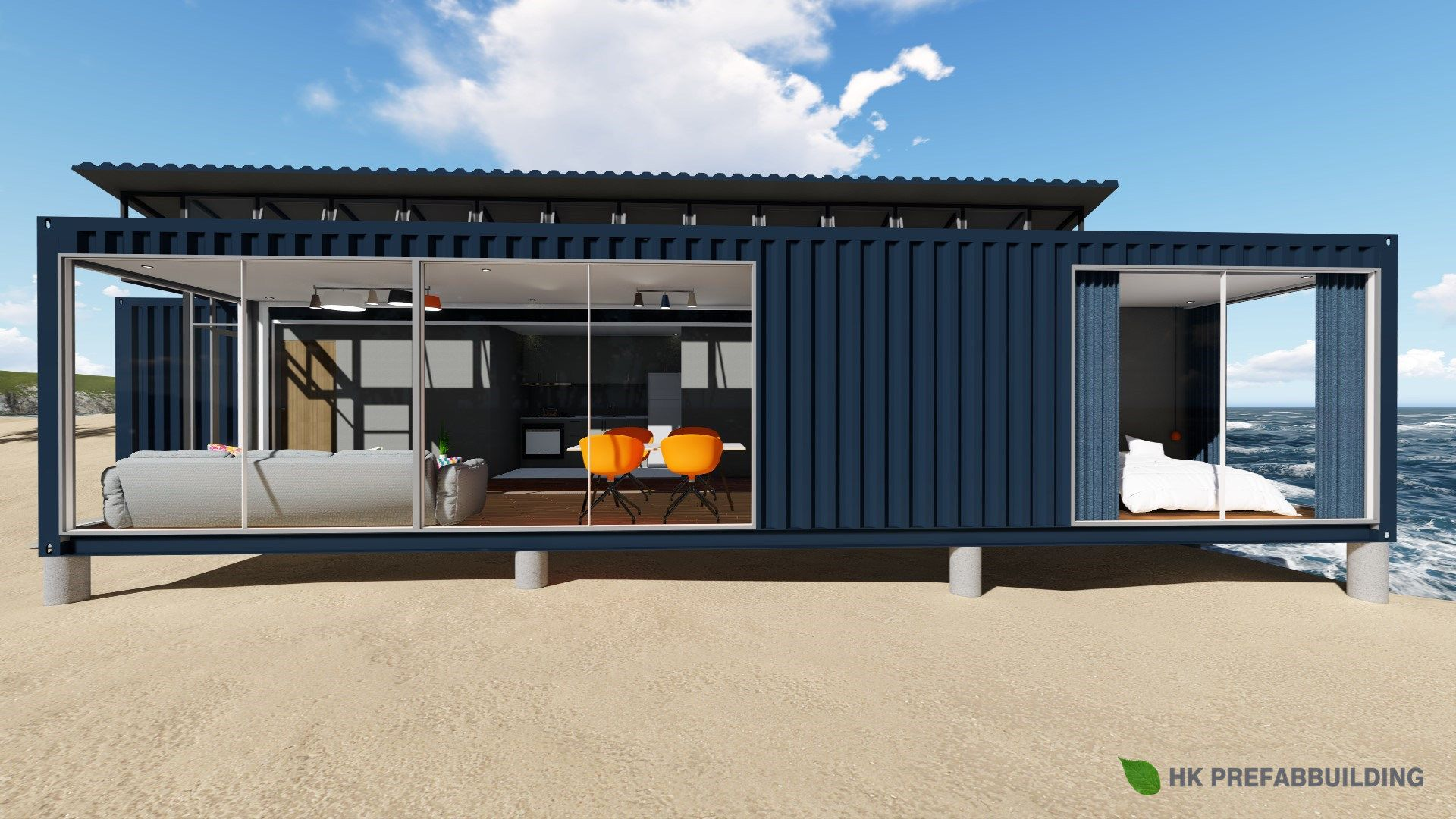 40ft Modified Shipping Container House China Container House Modular House Made In C Cargo Container Homes Container House Plans Building A Container Home