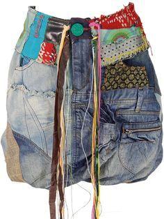 d518664c13fda Jupe boule jeanDESIGUAL   Desigual Lover   Denim, Altering jeans, Jeans