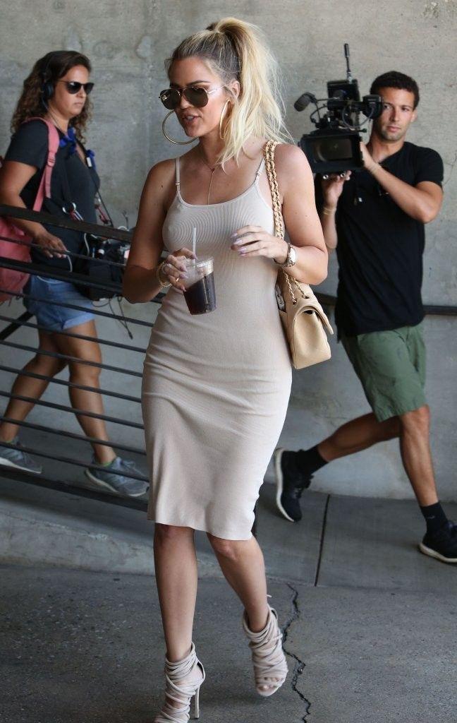 Khloe Kardashian Photos Photos: Kim and Khloe Kardashian Are Seen at Milk Studios #khloekardashian