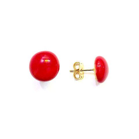 Ear Studs Ceramic Hibiscus Red - Lov'edu