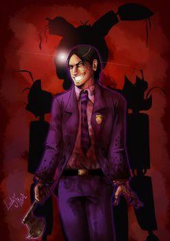 FNAF3 - I'm the Purple Guy by LadyFiszi