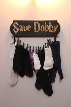 Este colgador de calcetines perdidos: