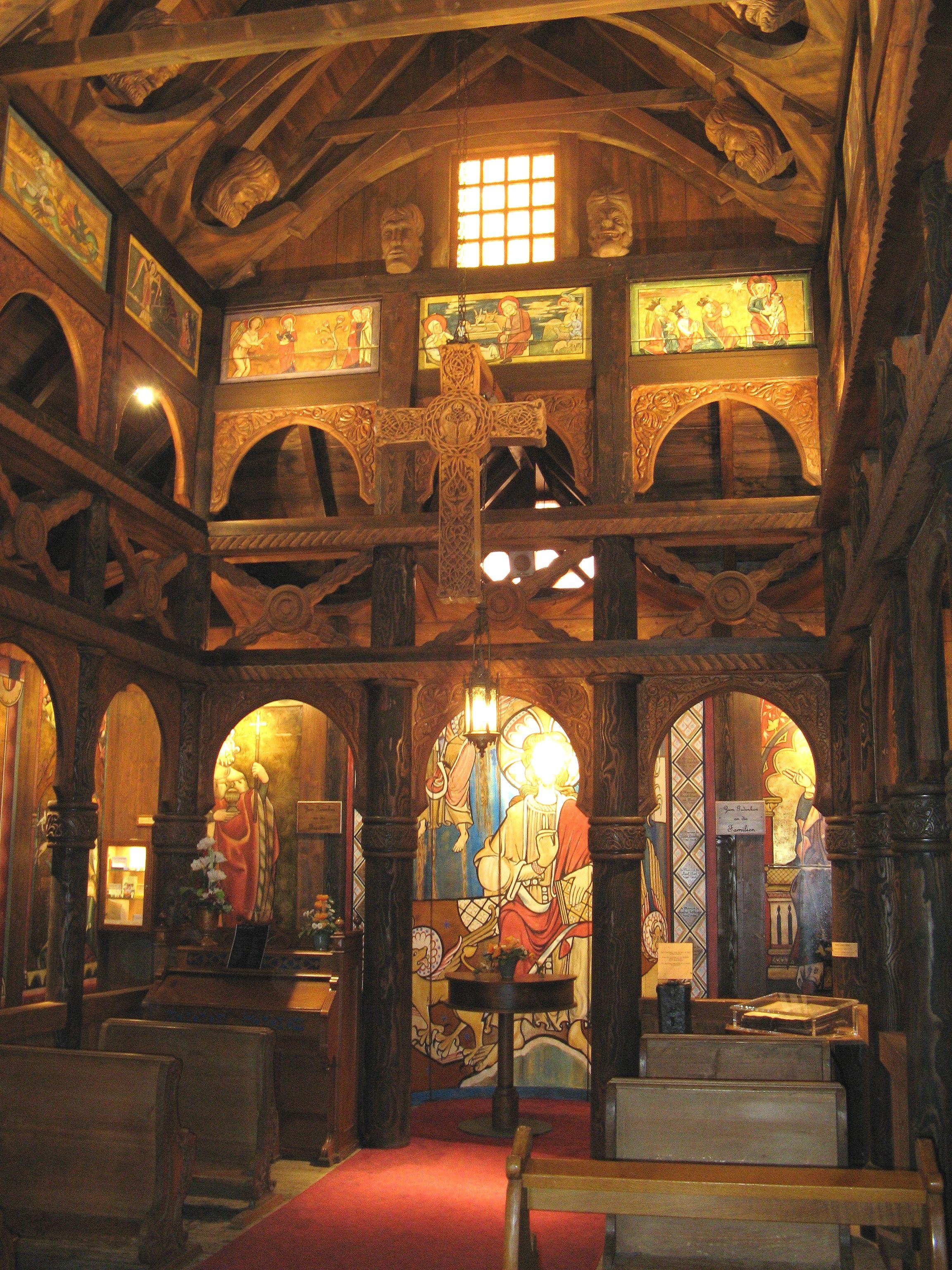 Borgund Norway Borgund Stave Church Interior Castles Interior Church Interior Church