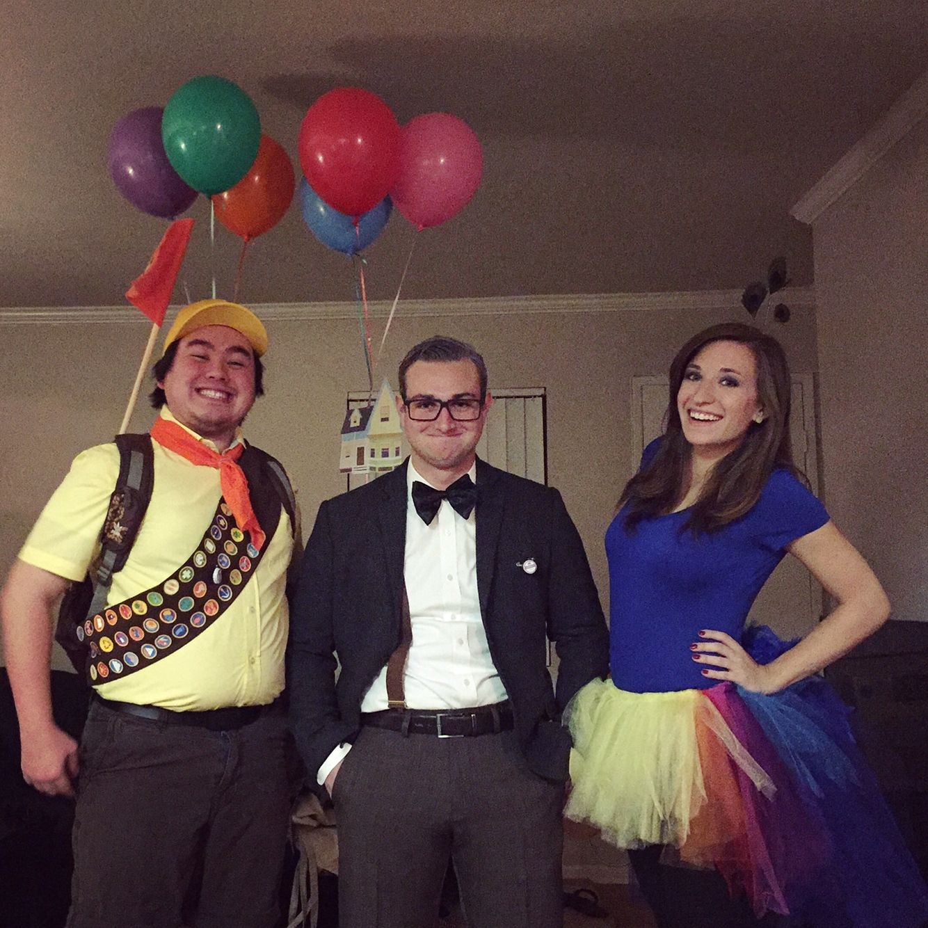 up halloween costumes - russell, carl and kevin. disney pixar group