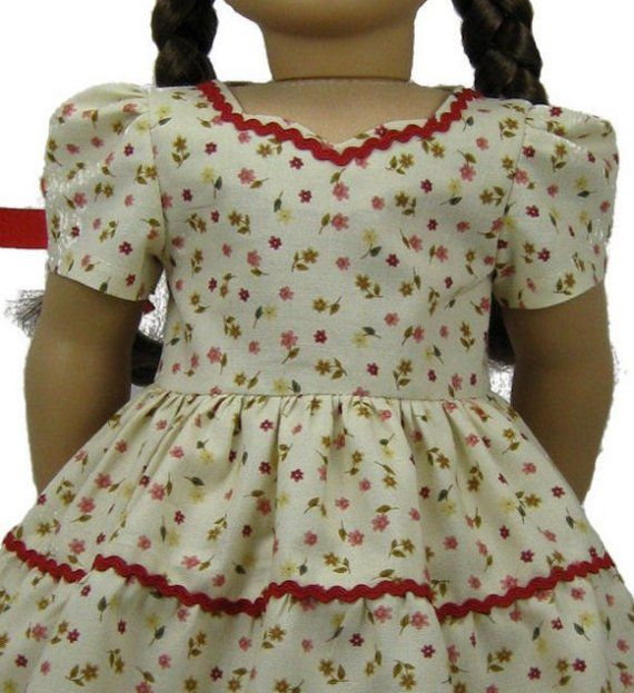 1940s Party Dress PDF sewing pattern for 18 inch American Girl doll ...
