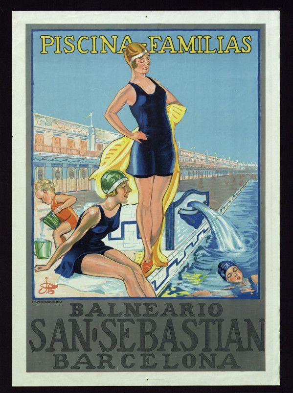 "Courtesy of the Biblioteca de Catalunya (http://www.bnc.cat): ""Piscina-familias : Balneario San Sebastian, Barcelona"", 1920s. (Rights Reserved - Free Access) http://www.europeana.eu/portal/record/91906/C75CC97261DBEC52519FFFAA0F3CA0AC7C4A4181.html"