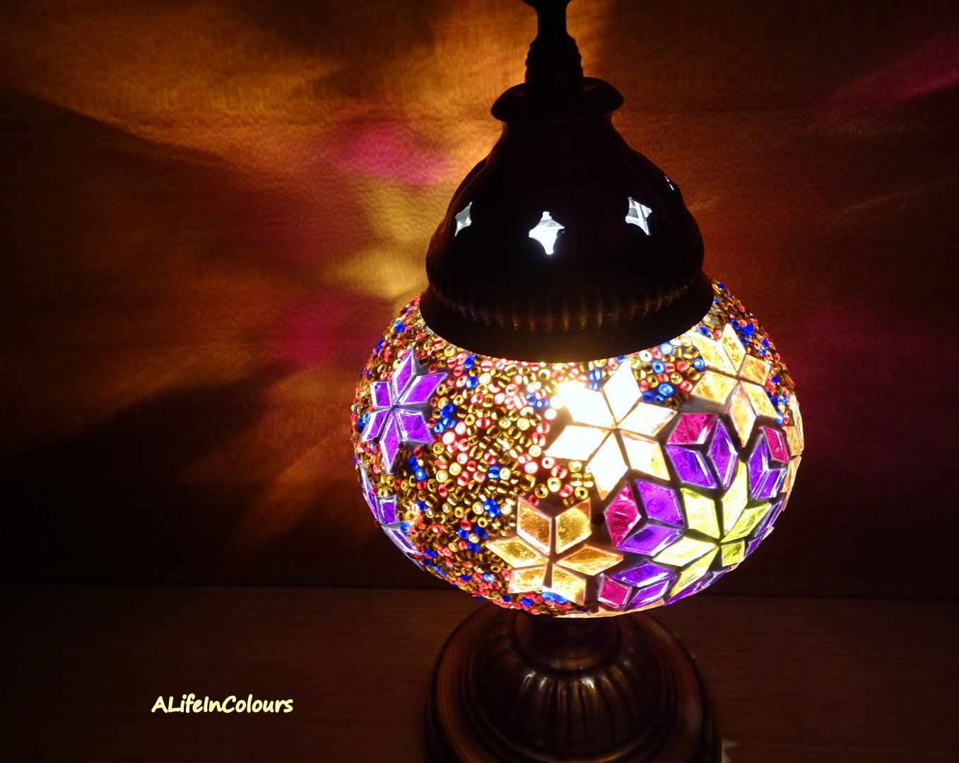 Night Lamp For Bedroom Colourful Turkish Handmade Glass Mosaic Table Lamp Bedroom Night