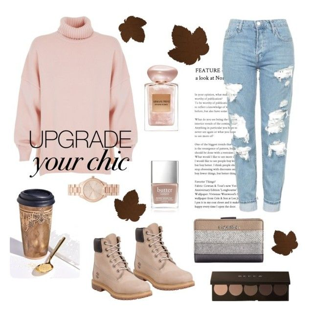"""🍂"" by goodvibesonlycalifornia ❤ liked on Polyvore featuring Free People, TIBI, Timberland, Topshop, Michael Kors, Calvin Klein, Butter London and Giorgio Armani"