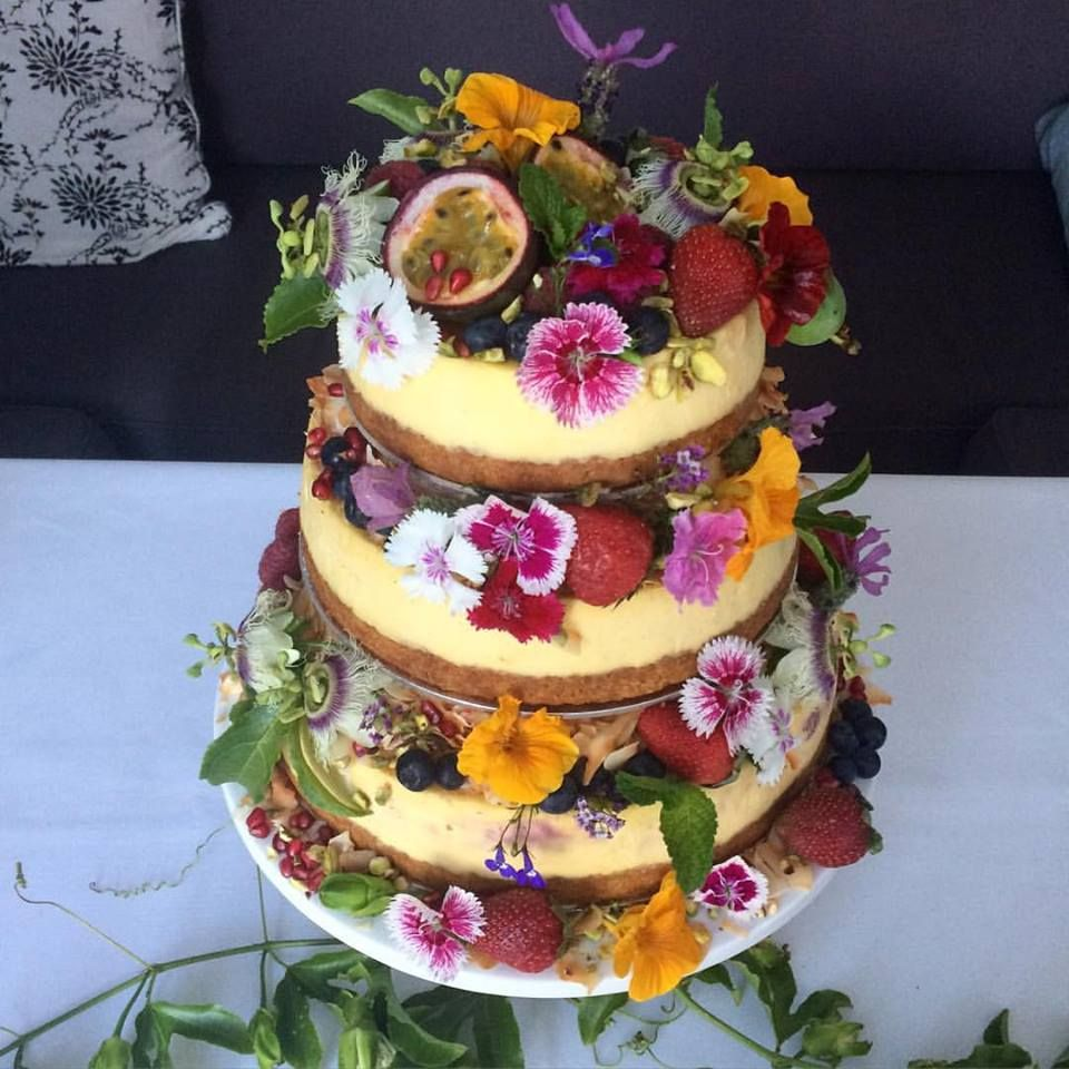 Wedding Cakes Wedding Cake Fresh: Wedding Cake Cheesecake Stack All Edible Flowers & Fruits