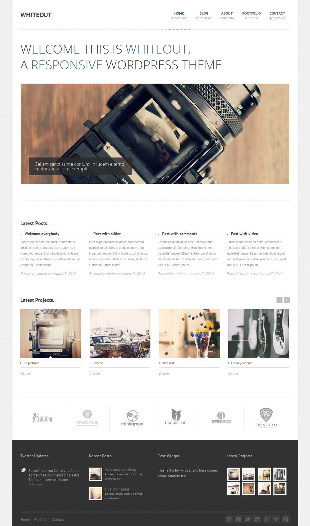 WhiteOut Premium Responsive WordPress Theme Mojo Themes