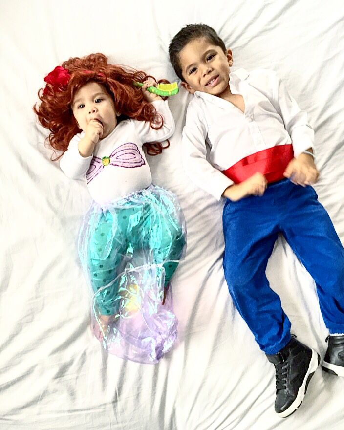 The Little Mermaid And Prince Eric Costume. Easy DIY