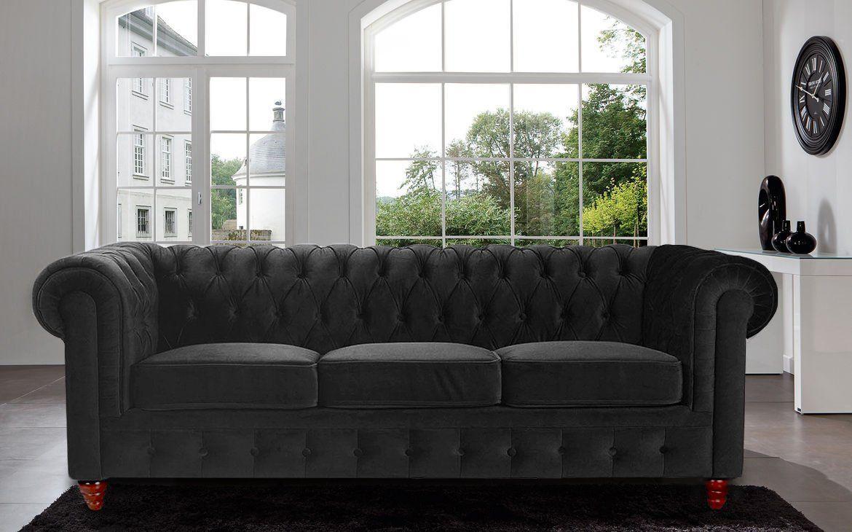 Chesterfield Divano ~ Divano roma furniture velvet scroll arm tufted button chesterfield