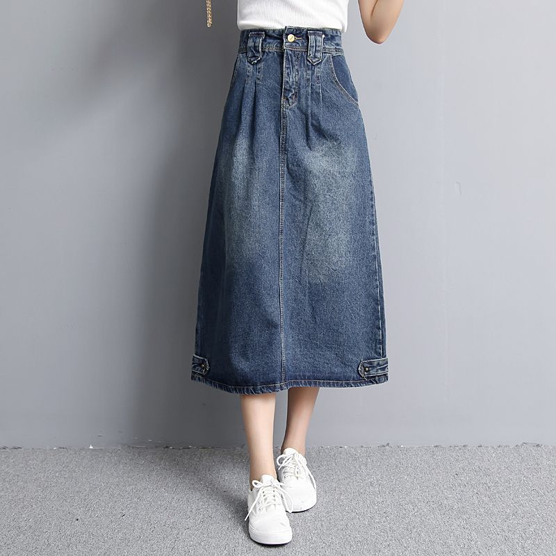 9dba13630f9 Spring Autumn Jeans skirt Denim skirts Long Skirt High Waist Jeans Maxi  Skirts Saias jean Longa Feminina Casual Plus Size S-2XL