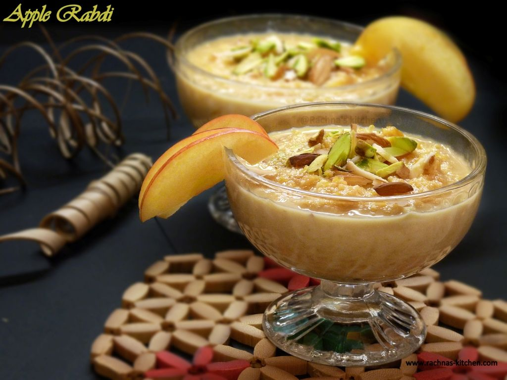 Apple Rabri Kheer Apple Dessert With Condensed Milk Recipe Desserts Condensed Milk Desserts Indian Desserts