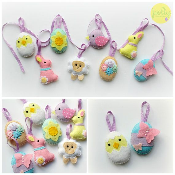 Make your own felt easter collection kit easter decorations sewing make your own felt easter collection kit easter decorations sewing pattern easter gifts negle Image collections