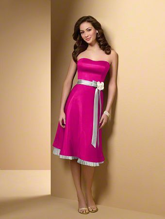 Hot Pink Silver Bridesmaid Dress