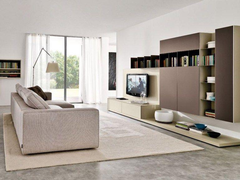 Photo of Mueble modular de pared modular con soporte para tv Z033-Z034 di Zalf