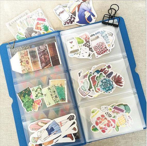 1 Pack Cute Cartoon PVC Stickers Scrapbooking DIY Diary Book Stickers neRI