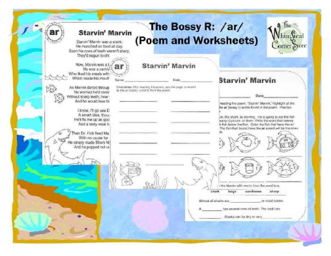 This Packet Has A Poem Which Features The Bossy R Sound Of