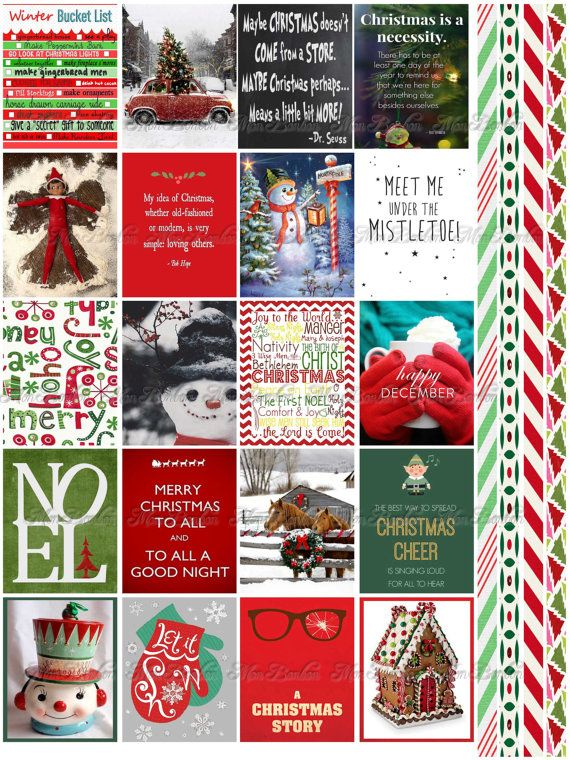Christmas And Winter Quote Stickers Planner Printable Journal
