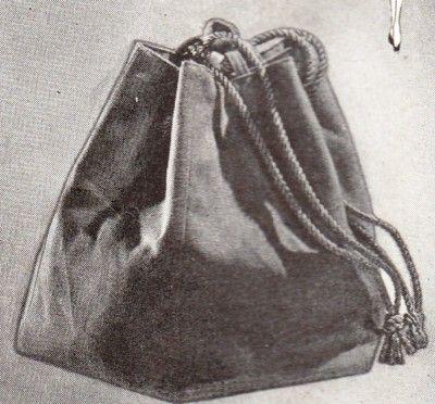 Vintage Sewing Pattern 1940s Drawstring Sectional Hand Bag Free Uk