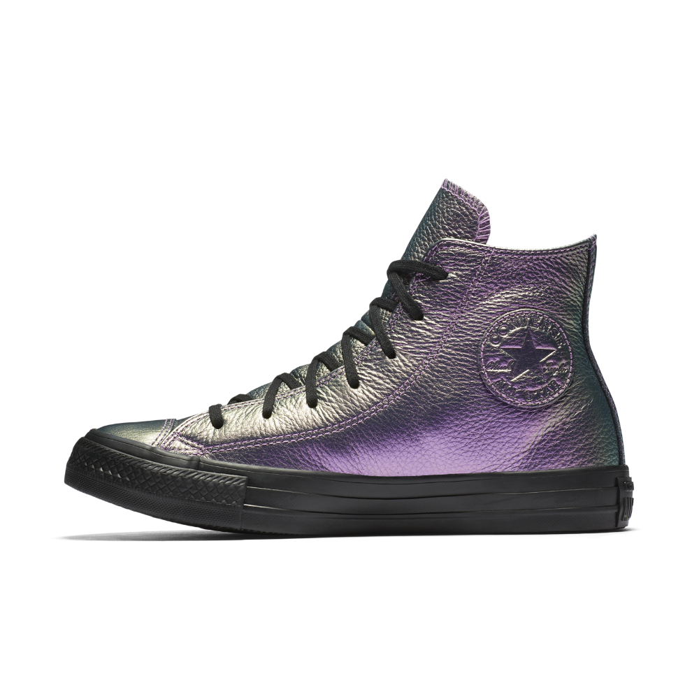 154925453a2 Converse Chuck Taylor All Star Iridescent Leather High Top Women s Shoe Size