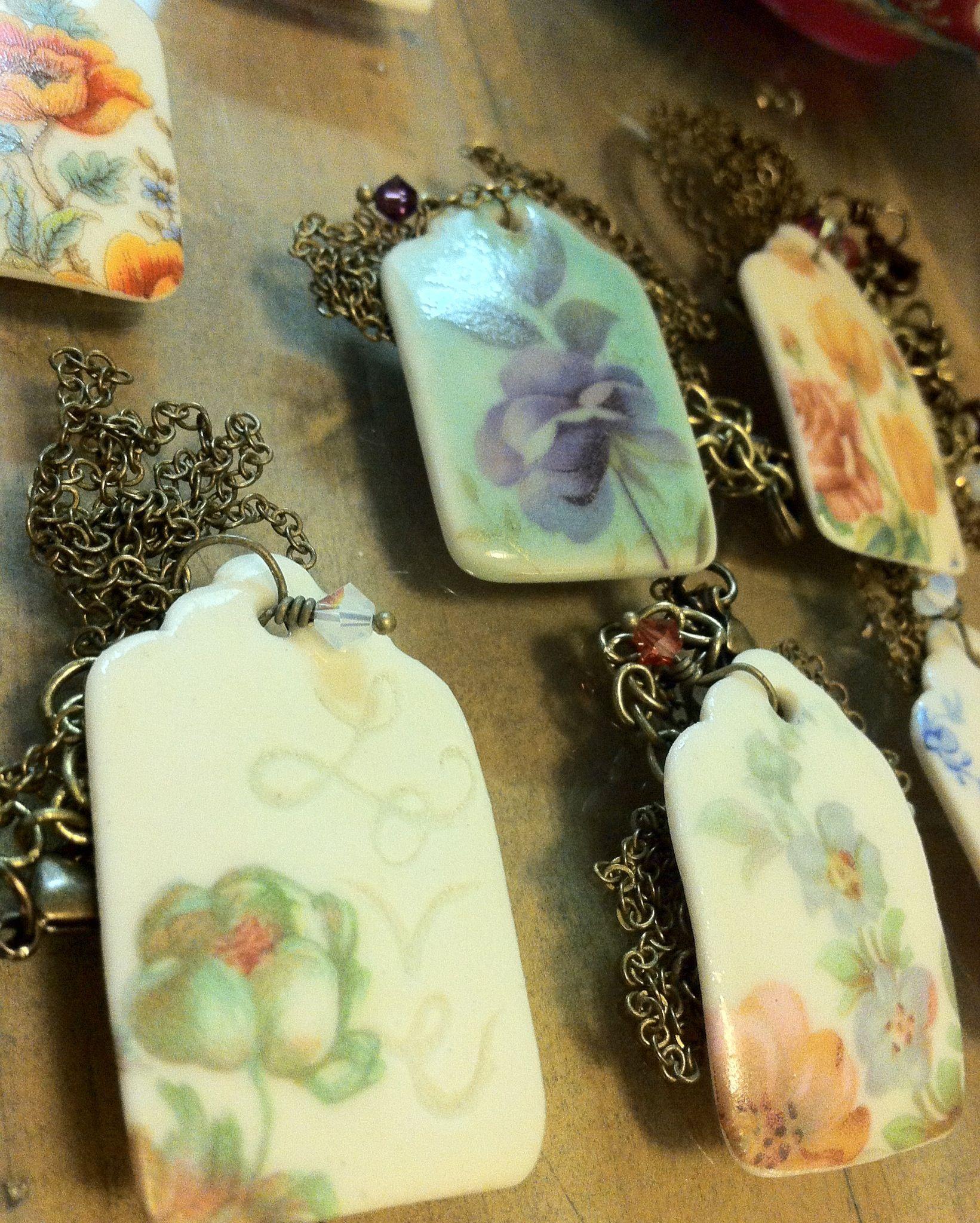 Paper white porcelain tag necklaces.  www.shendoe.etsy.com
