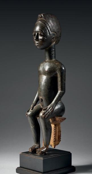 Bois République De Frontière D'ivoire Ghana Baoulé Statuette Côte R4jAL35