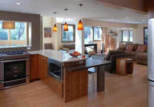 Eat In Kitchen Table Height Peninsula Peninsula Kitchen Design Kitchen Design Kitchen Peninsula