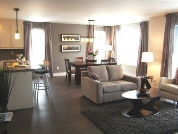 Open concept living-dining-kitchen, Aire ouverte salon salle-a ...