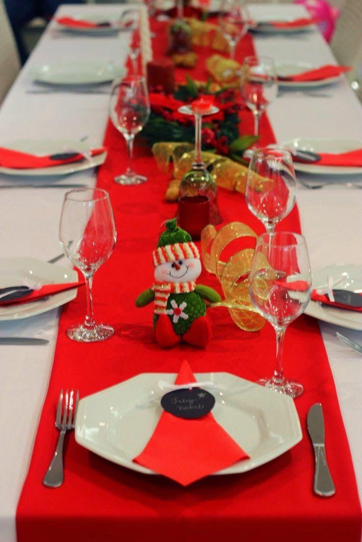 Ideias simples para decorar a mesa de natal... | Decoração de natal simples,  Decoração mesa de natal, Decoração de natal