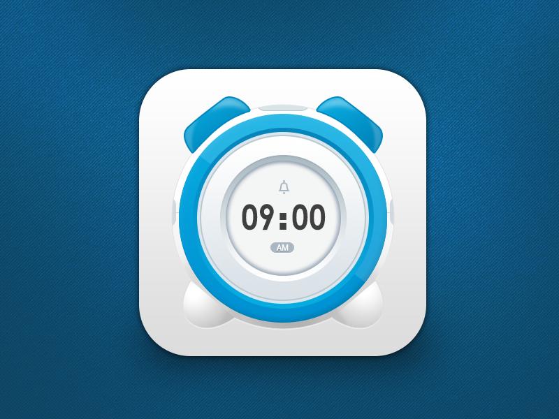 alarm clock app icon | Design | App Icons | Icone, Design