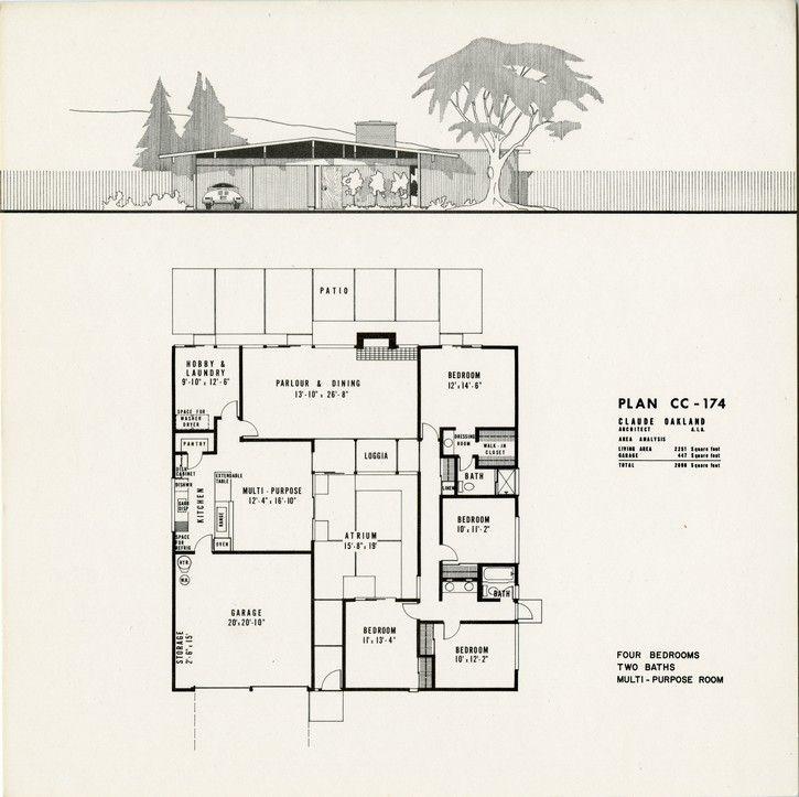 Stock5 9 054 Jpg Eichler House Plans Courtyard House Plans Eichler Homes